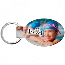 Personalized Keychain - Oval